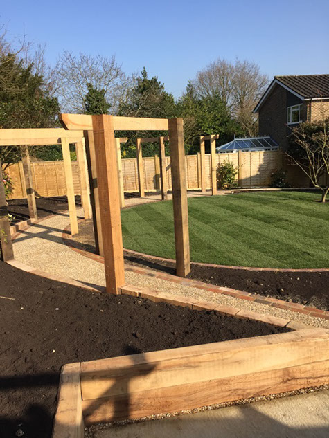image of a freshly build and landscaped garden