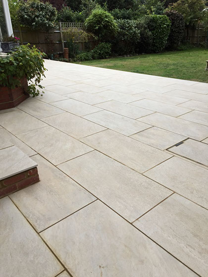 image of a newly laid patio